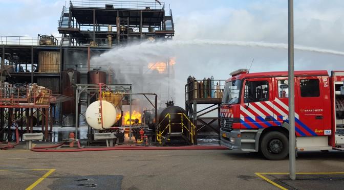 Brandbekämpfung in Rotterdam