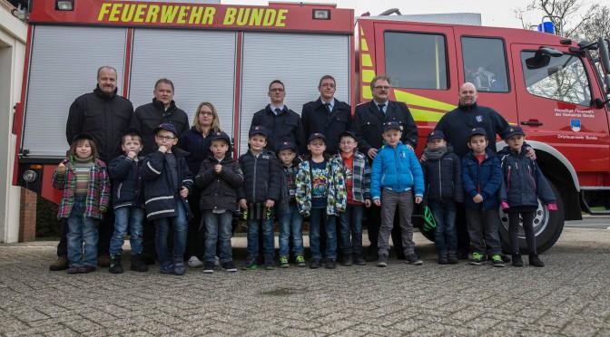 Erster Einsatz für die Bunder Feuerwehrdrachen