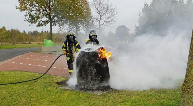 Nr.37>Mülltonne brannte auf Autobahn Rastplatz